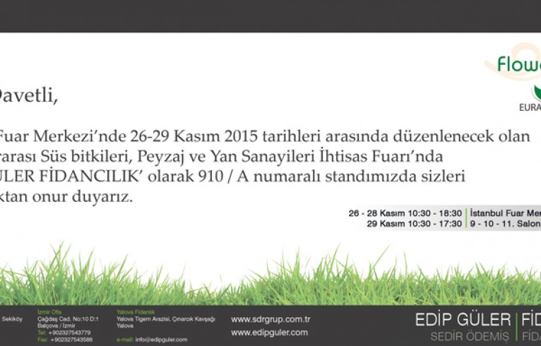 Flower Show İstanbul 2015'e davetlisiniz.
